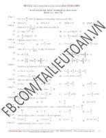 Ngân hàng đề trắc nghiệm lượng giác 11 (900 Câu  File word 2003 có đáp án)