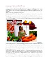 Dinh dưỡng cho bà bầu một số điều cần chú ý