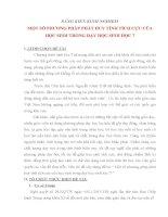SÁNG KIẾN KINH NGHIỆM MỘT SỐ PHƯƠNG PHÁP PHÁT HUY TÍNH TÍCH CỰC CỦA HỌC SINH TRONG DẠY HỌC SINH HỌC 7