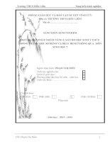 SÁNG KIẾN KINH NGHIỆM  MỘT SỐ BIỆN PHÁP NHẰM NÂNG CAO CHO HỌC SINH Ý THỨC PHÒNG TRÁNH MỘT SỐ BỆNH VÀ DỊCH  BỆNH THÔNG QUA  MÔN SINH HỌC 7