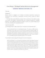 Case study 1 SHRM AT MERCIA SYSTEMS LTD