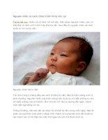 Nguyên nhân và cách chữa trị khi trẻ bị nấc cụt