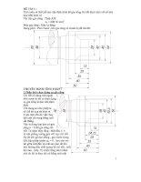 Tiểu luận tính toán và thiết kế dao tiện định hình để gia công chi tiết định hình