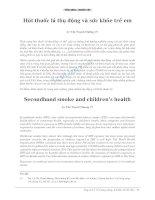 Hút thuốc lá thụ động và sức khỏe trẻ em