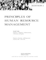 Principles of human resource management edition 1