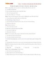 Bài tập trắc nghiệm Vật lý lớp 11: Điện tích - định luật cu lông