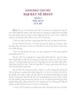 Kinh Phật Thuyết  Đại Bát Nê Hoàn