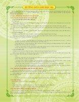 Hướng dẫn ghi nhận xét thường xuyên của giáo viên bộ môn theo thông tư số 30 2014 tt  bgdđt