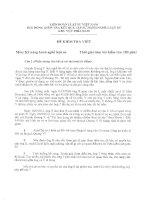 ĐÁP ÁN ĐỀ THI HẾT TẬP SỰ HÀNH NGHỀ LUẬT SƯ ĐỢT 1 2014 THI VIẾT