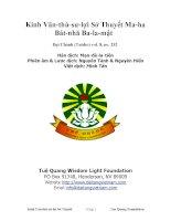 Kinh Văn-Thù-Sư-Lợi Sở Thuyết Ma-Ha Bát-Nhã Ba-La-Mật