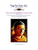 Phật Thuyết Kinh Bồ Tát Bản Duyên