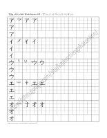 Tập viết chữ katakana (1)
