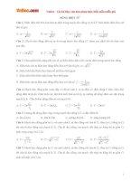 Bài tập trắc nghiệm lý thuyết sóng điện từ