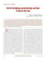 Vấn đề bồi dưỡng cán bộ biên tập xuất bản ở nước ta hiện nay