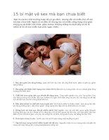 15 bí mật về sex mà bạn chưa biết