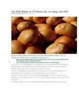Sự thật đáng sợ về khoai tây ai cũng cần biết