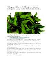 Những người tuyệt đối không nên ăn rau muống nếu không muốn tổn hại đến sức khỏe