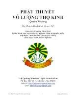Phật Thuyết Vô Lượng Thọ Kinh Quyển Thượng