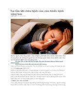 Sai lầm khi chữa bệnh cảm cúm khiến bệnh nặng hơn