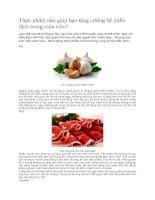Thực phẩm nào giúp bạn tăng cường hệ miễn dịch trong mùa cúm