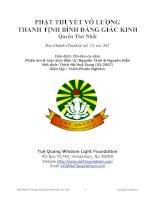 Phật Thuyết Vô Lượng Thanh Tịnh Bình Đẳng Giác Kinh Quyển Thứ Nhất