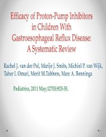 Efficacy of proton pump inhibitors in children with gastroesophageal reflux disease