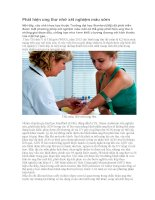 Phát hiện ung thư nhờ xét nghiệm máu sớm