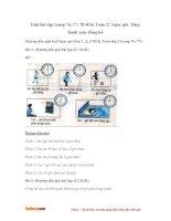 Giải bài tập trang 76, 77, 78 SGK Toán 2: Ngày, giờ. Thực hành xem đồng hồ