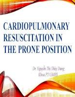 Cardiopulmonary resuscitation in the prone position