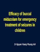 Efficacy of buccal midazolam for emergency treatment of seizures in children