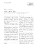 Cardiovascular embryology