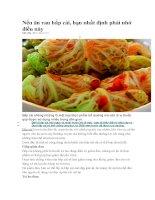 Nếu ăn rau bắp cải