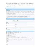 Tùy biến giao diện của dspace phiên bản 5 1