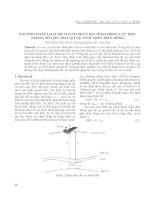 Phương pháp loại bỏ thành phần địa hình động lực học trong số liệu đo cao vệ tinh trên biển đông