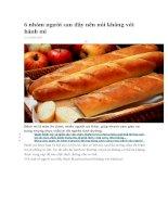 6 nhóm người sau đây nên nói không với bánh mì