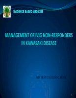 Management of ivig non responders in kawasaki disease