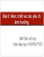 Bai 6  muc chet va cac yeu to anh huong 14 5 2013