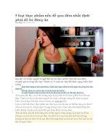 5 loại thực phẩm nếu để qua đêm nhất định phải đổ bỏ đừng ăn