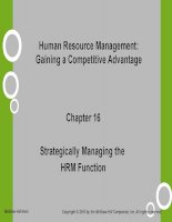 HRM gaining a competitive advantage noe ch016