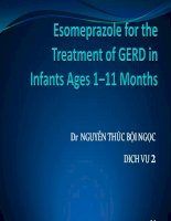 Esomeprazole for the treatment of GERD in infants ages 1–11 months