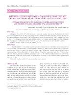 Điều kiện ủ thích hợp và khả năng thủy phân tinh bột và protein trong bã sắn của chủng bacillius subtilis