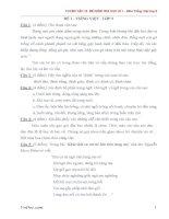 12 đề thi học kì 1 môn Tiếng Việt lớp 5 có đáp án