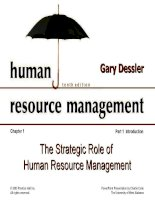 Dessler ch 1 the strategic role of human resources managemen