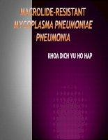 Macrolide resistant mycoplasma pneumoniae pneumonia
