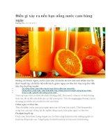 Điều gì xảy ra nếu bạn uống nước cam hàng ngày