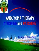 Amblyopia therapy atropine and patching