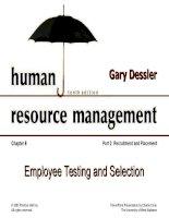 Dessler ch 6 rec planning and testing