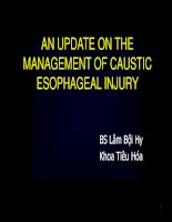 An update on the management of caustic esophageal injury