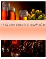 quá trình và thiết bị đường hóa trong sản xuất bia