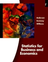 Statistics for business and economics (11e)